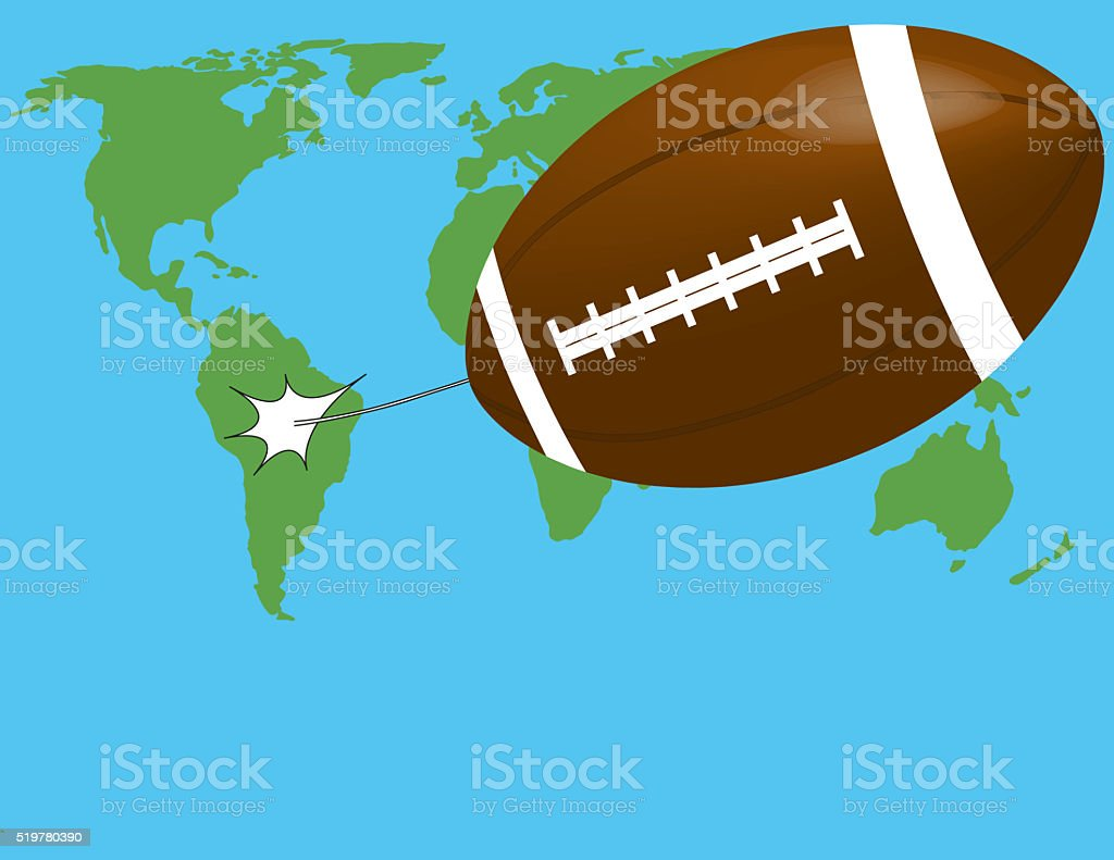 rugby ball flying stock photo