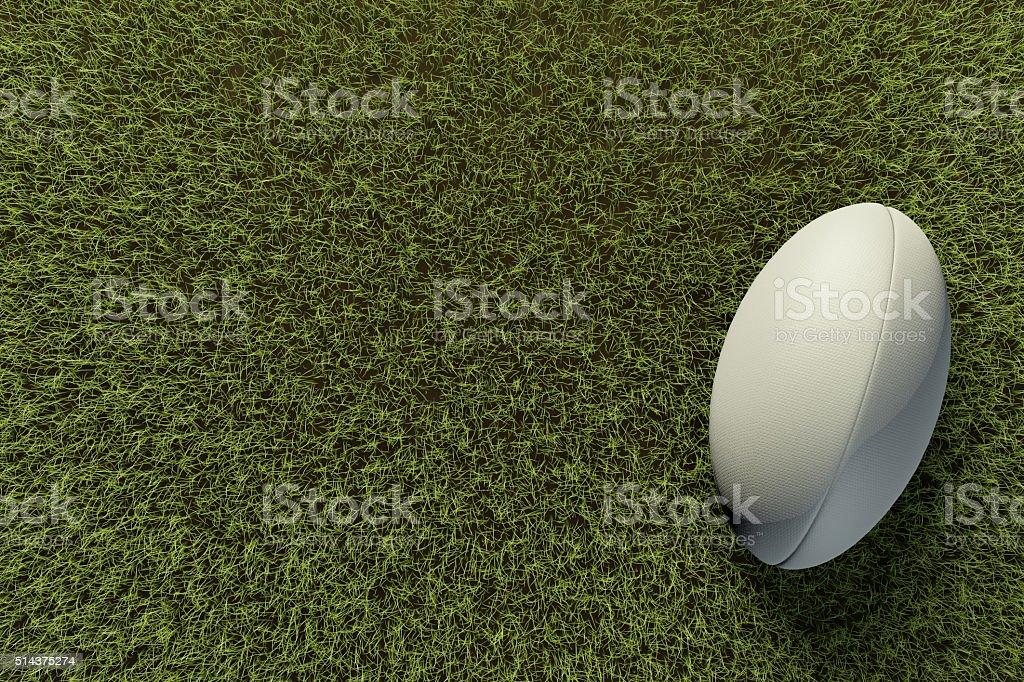 Rugby-ball auf Gras Feld – Foto