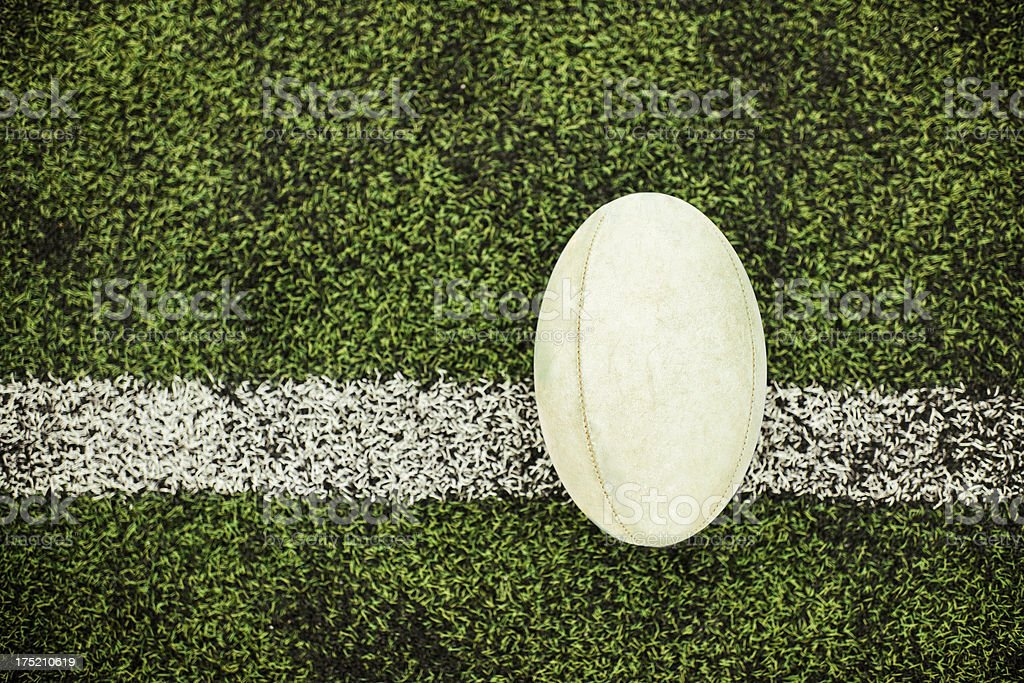 Rugby ball royalty-free stock photo