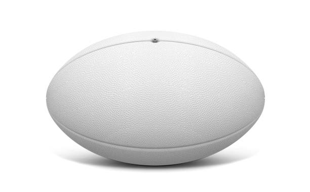 rugby ball white - rugby ball stock photos and pictures