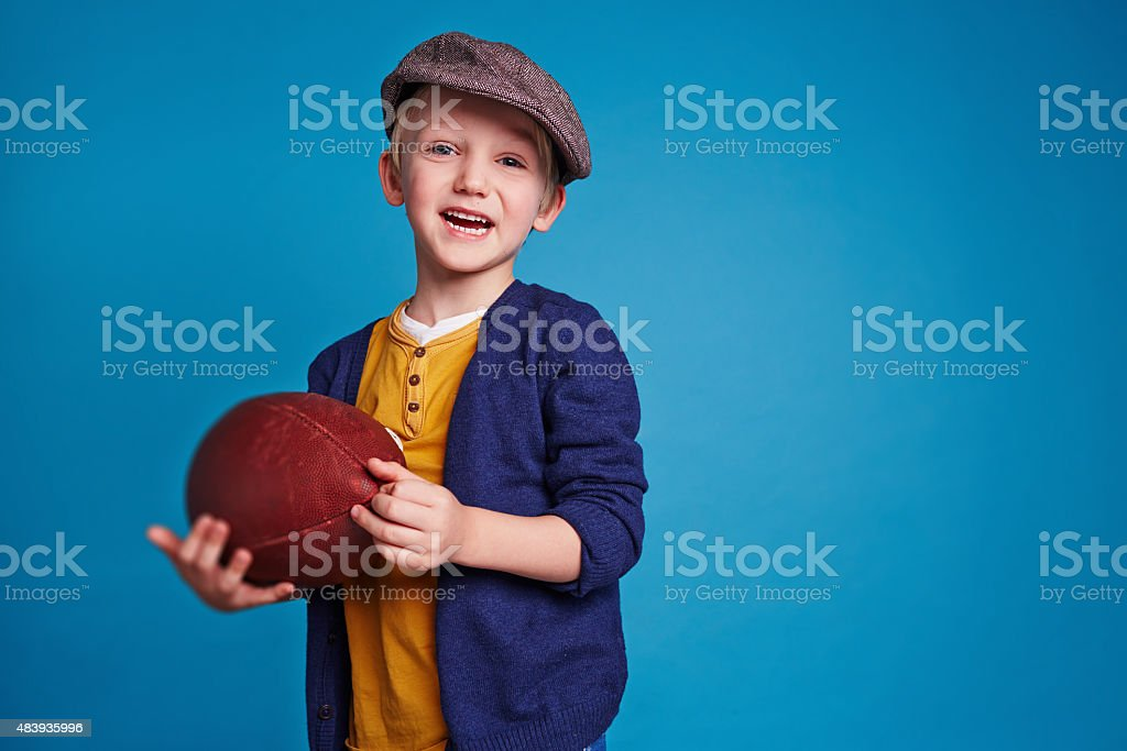 Rugby fan stock photo