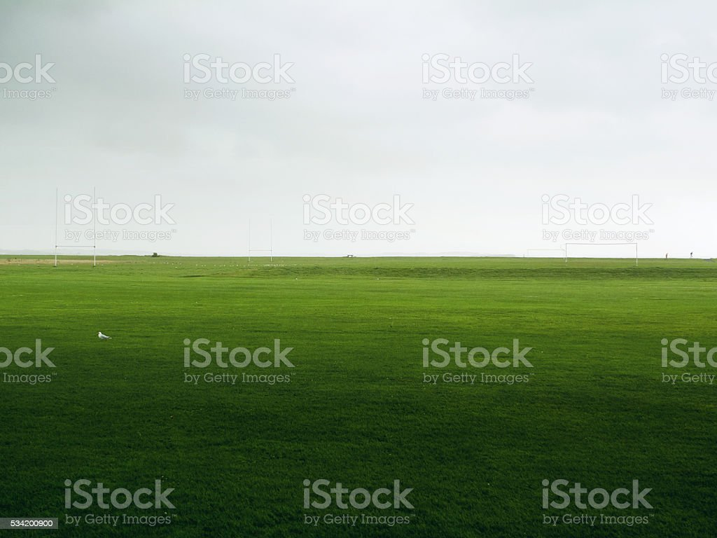 rugby field in ireland stock photo