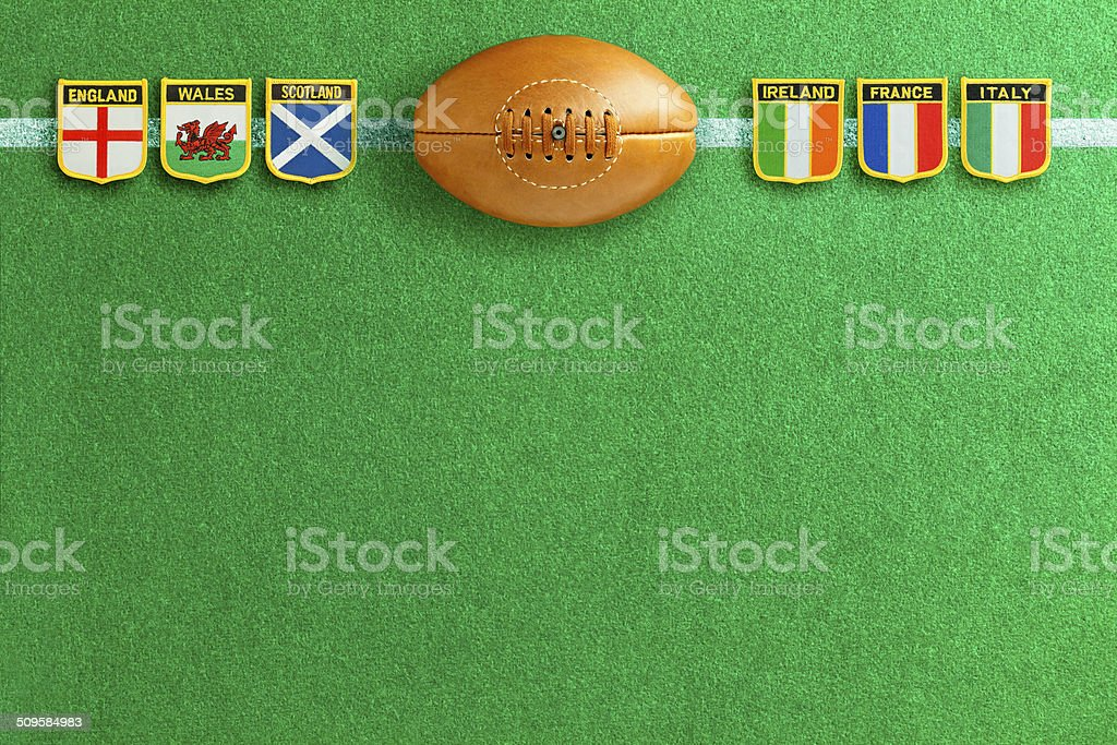 Rugby Football Six Nations stock photo