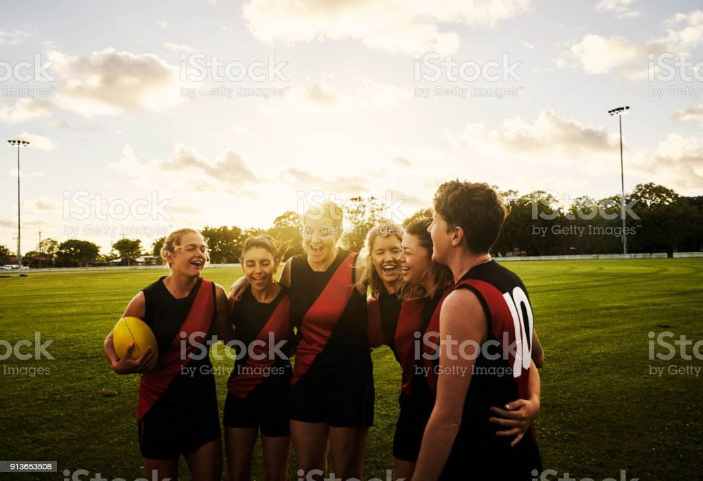 Rugby is a sisterhood stock photo