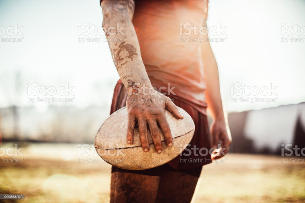 Rugby is rough stock photo