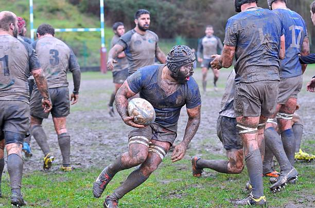 Rugby match. stock photo