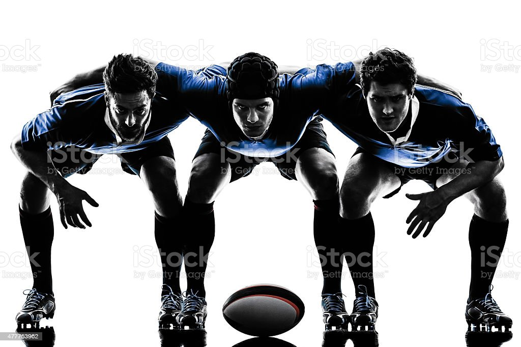 Herren-silhouette-rugby player – Foto