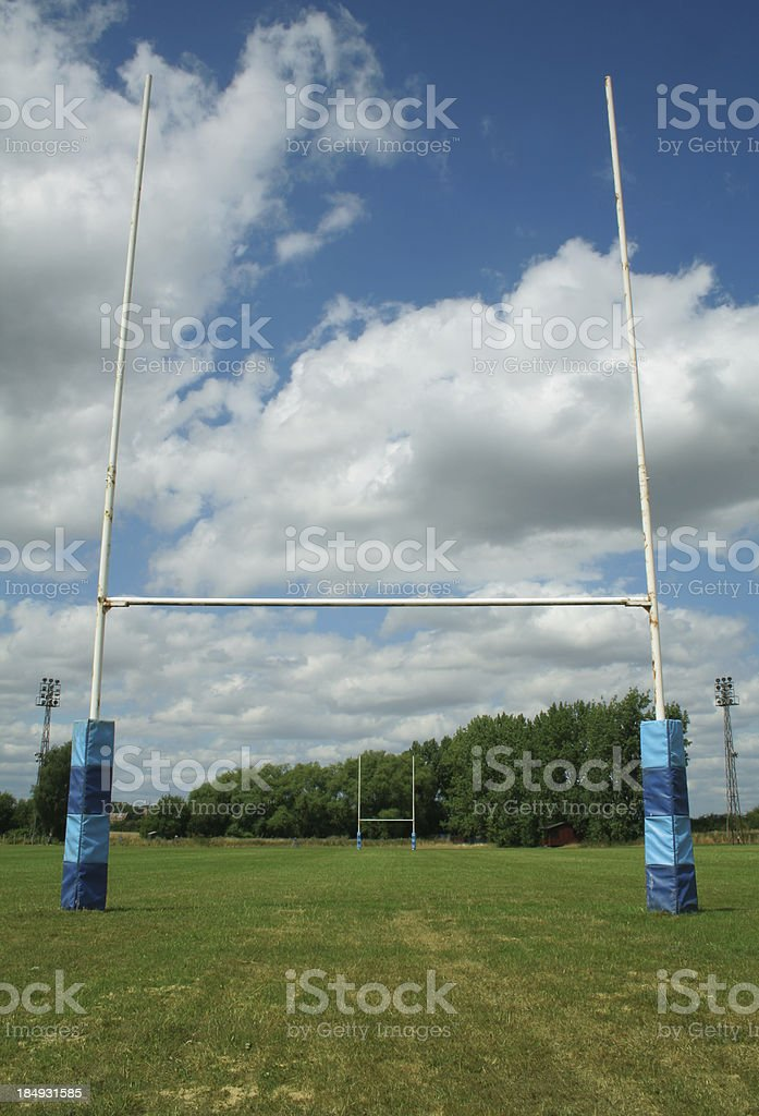 rugby pitch royalty-free stock photo
