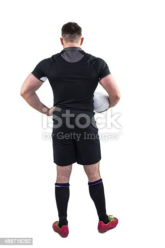 istock Rugby player holding the ball 488718262