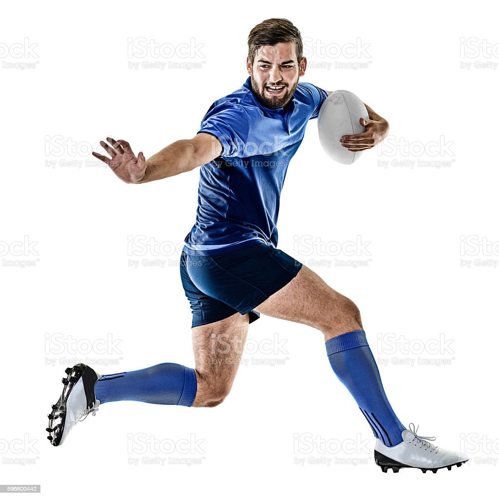 rugby player man isolated - foto de stock