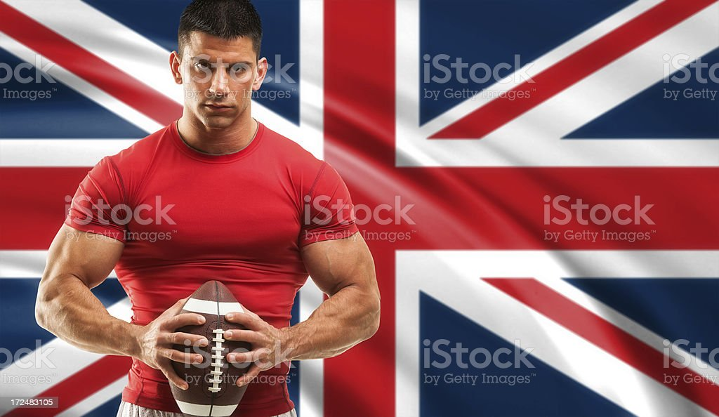 Rugby player royalty-free stock photo