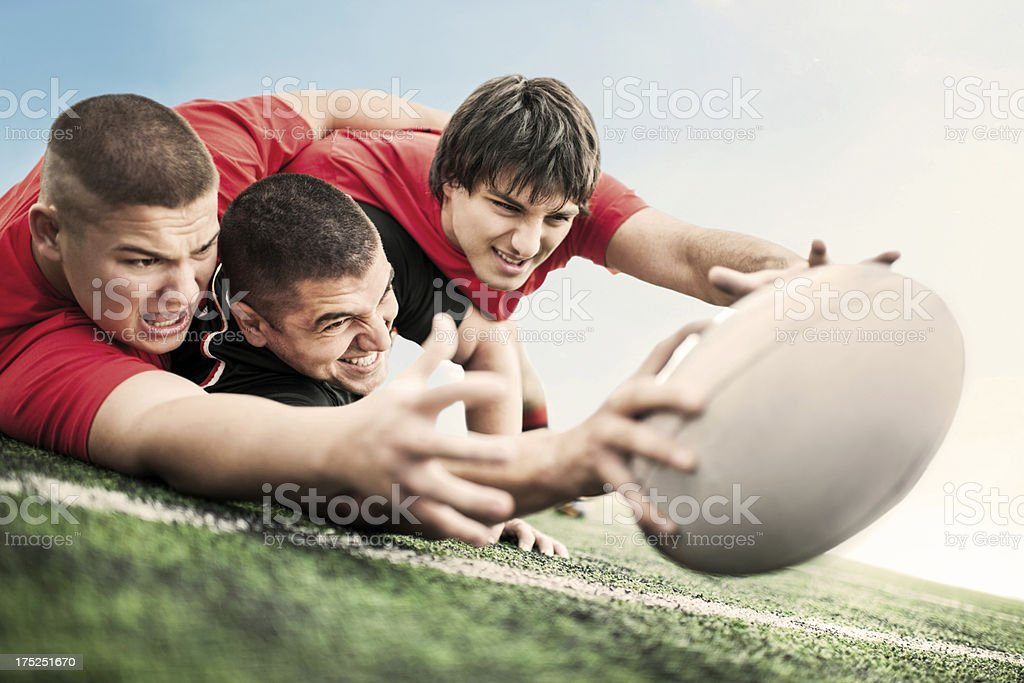 Rugby player scoring a try - Royalty-free 20-29 Years Stock Photo