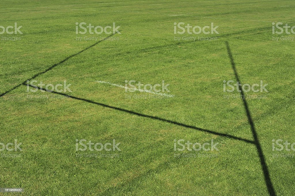 Rugby Post Shadow stock photo
