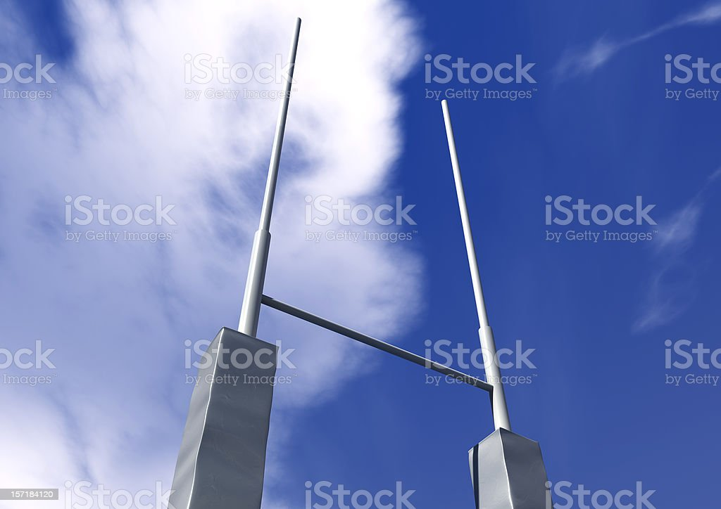 Rugby Posts Perspective stock photo