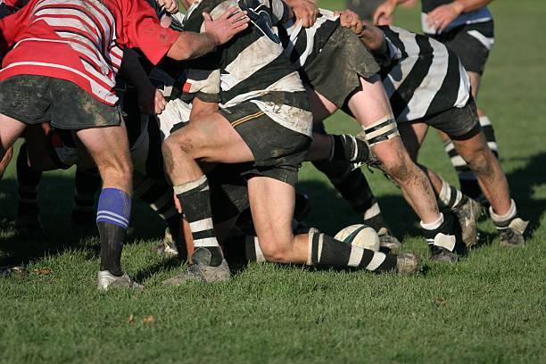 rugby melé - rugby fotografías e imágenes de stock