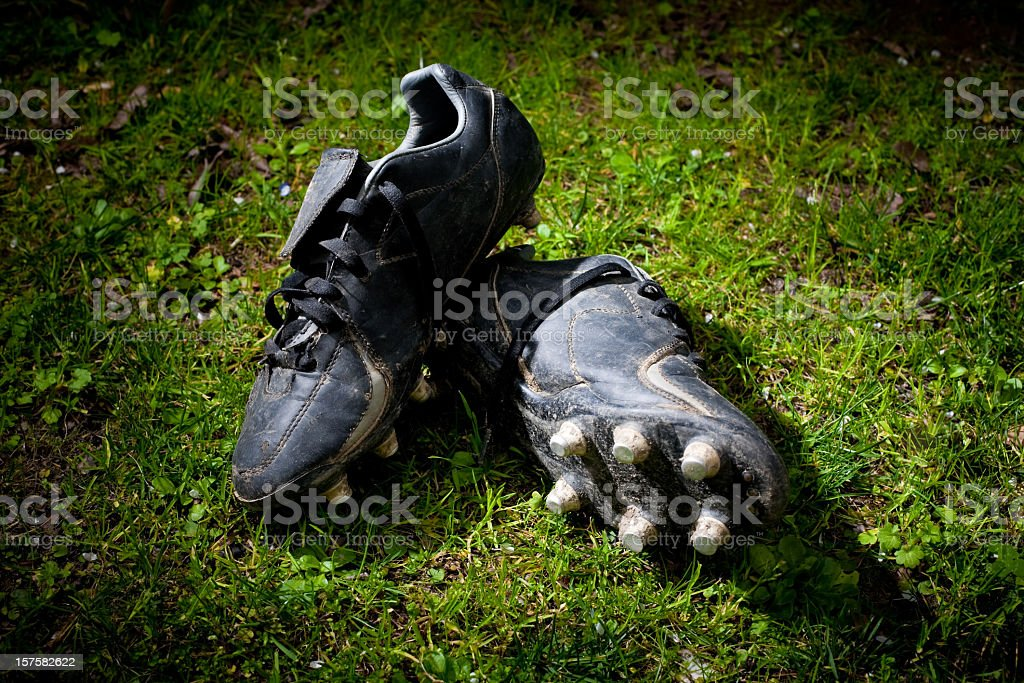 rugby shoes stock photo