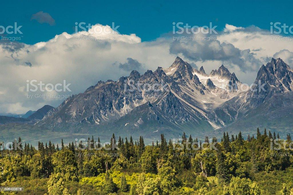 Rugged Alaskan Mountains stock photo