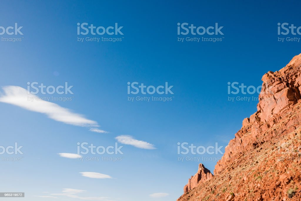 Rugged Arizona Desert Mountain Background with Blue Sky royalty-free stock photo