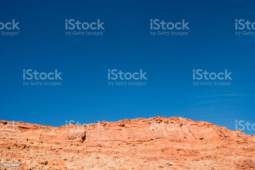 Rugged Arizona Desert Mountain Landscape with Blue Sky royalty-free stock photo