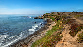 Rugged Central California coastline at Cambria California United States
