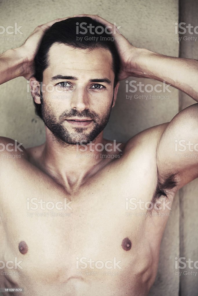 Rugged charm and masculinity royalty-free stock photo