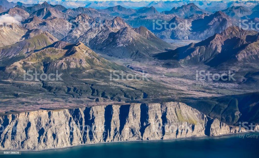 Rugged coastline Katmai National Park, Alaska stock photo