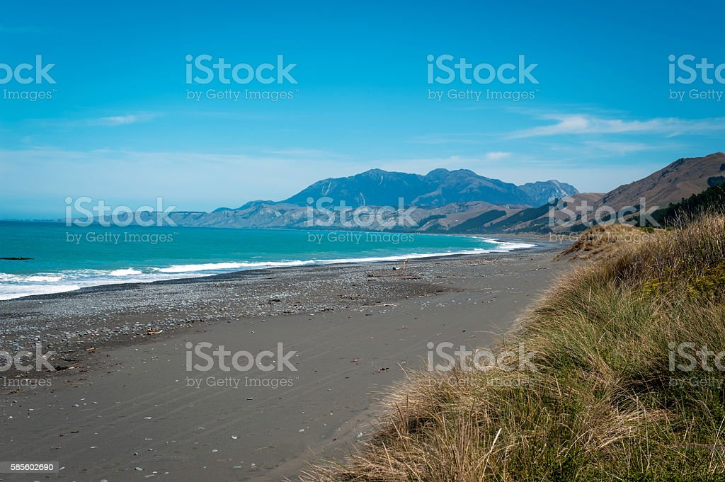 Rugged Coastline Of Kaikoura Stock Photo Download Image