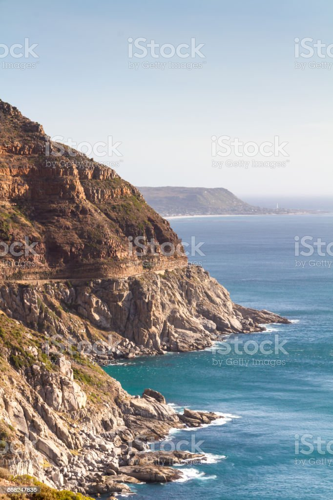 Rugged Coastline, South Africa stock photo