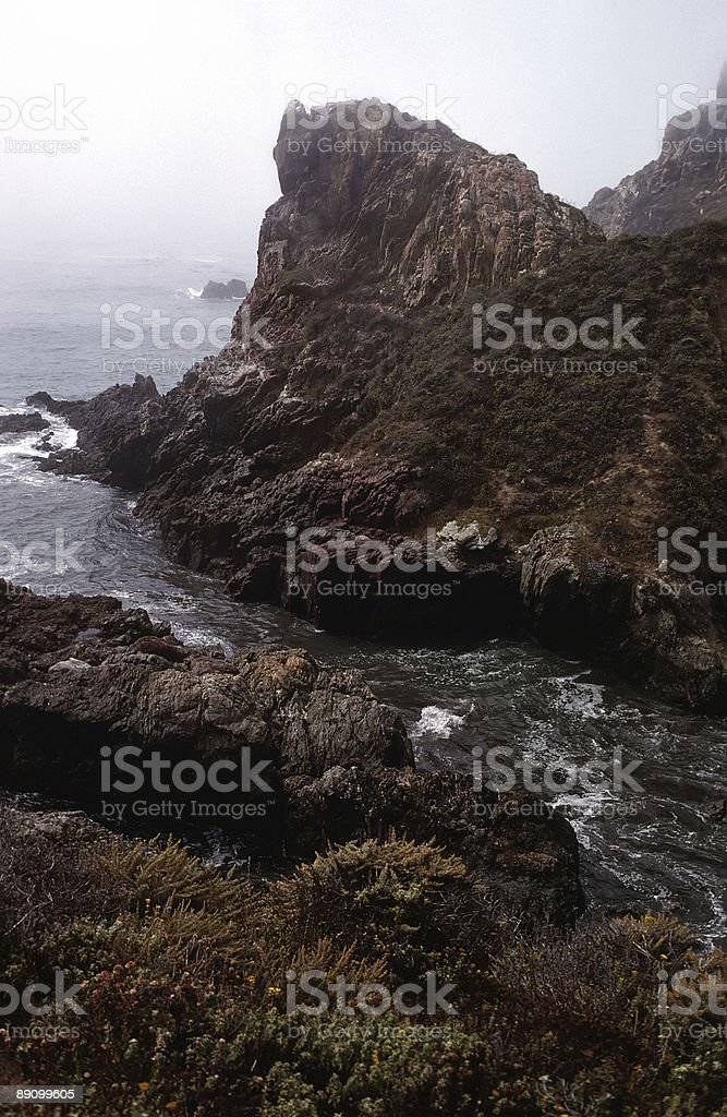 Rugged Coastline-Big Sur royalty-free stock photo