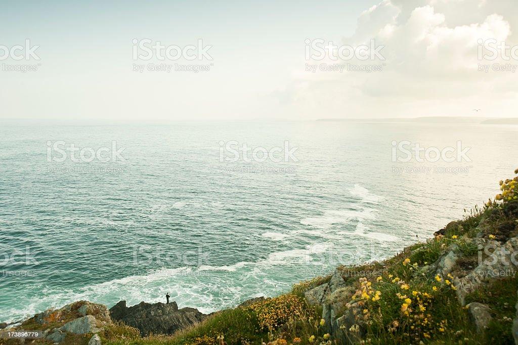 Rugged Cornish clifftop stock photo