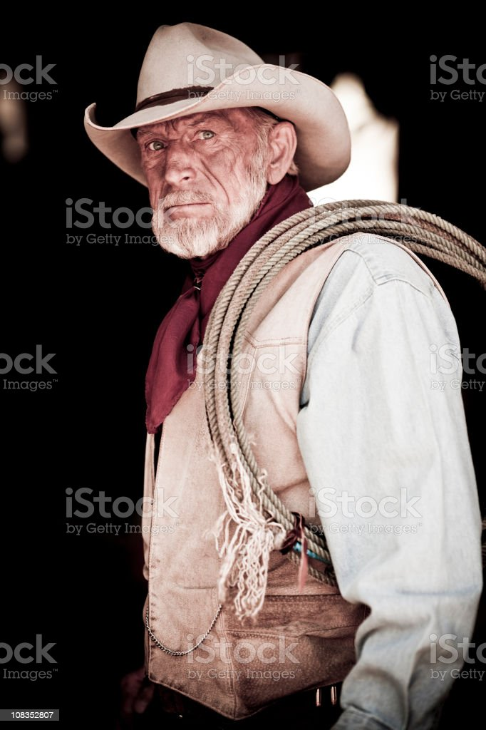 Rugged Cowboy royalty-free stock photo