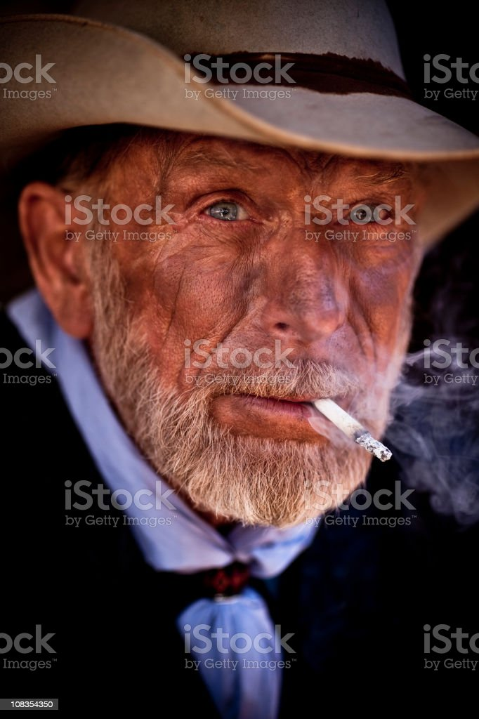 Rugged Cowboy royalty-free stock photo