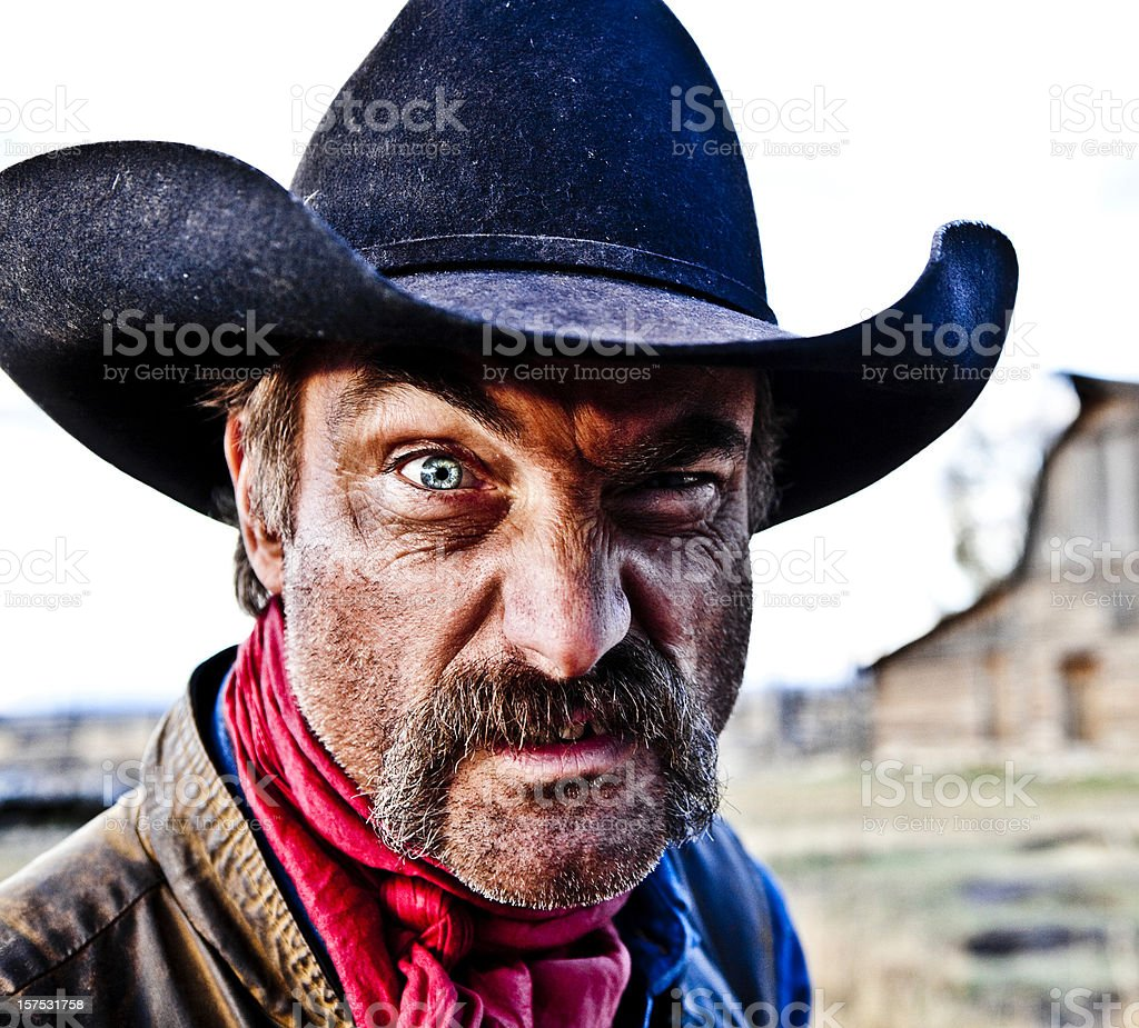 Rugged Cowboy stock photo