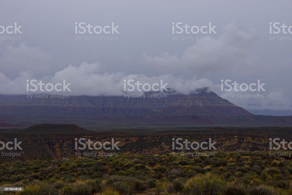 Rugged Land Near Zion stock photo