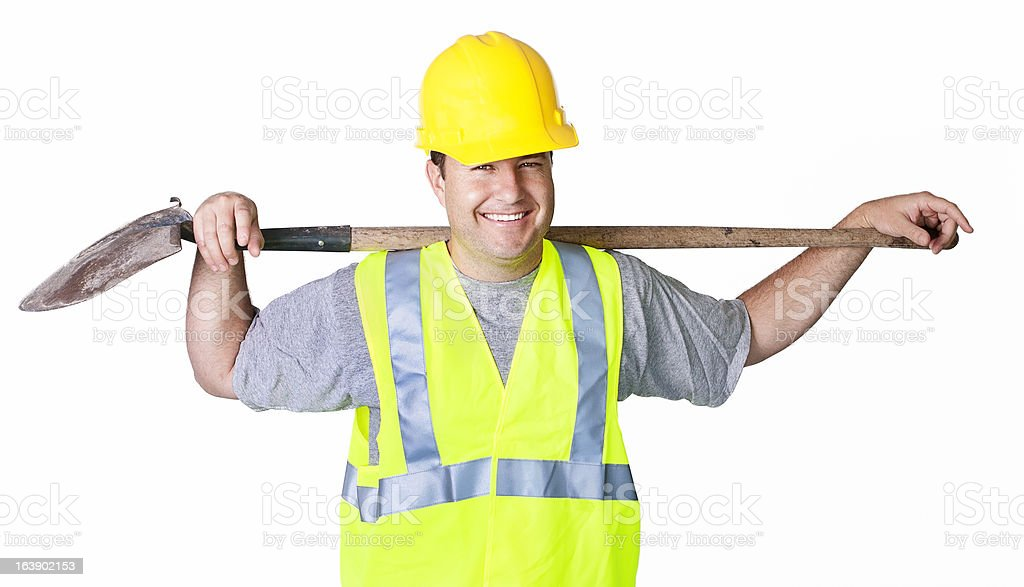 Rugged Male Worker Ready to work royalty-free stock photo