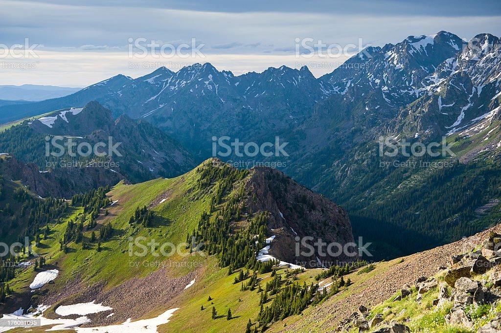 Rugged Mountain Ridge Gore Range Colorado royalty-free stock photo