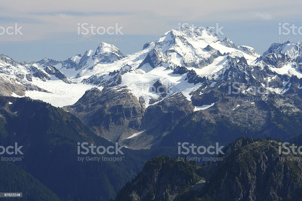 Rugged Mountain with Glaciers and Snow royalty-free stock photo