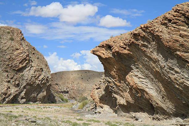 Rugged mountains of Kuiseb Delta stock photo