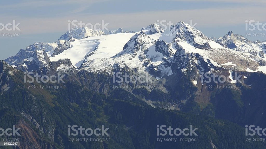 Rugged Mountains with Snow royalty-free stock photo