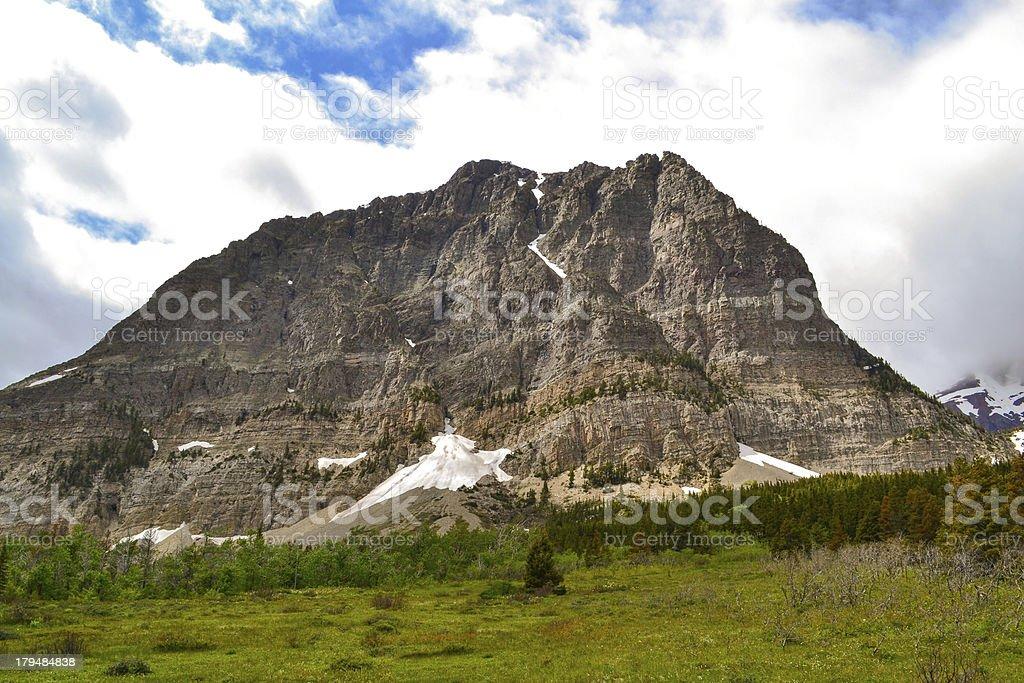 Rugged Peak in Glacier Park royalty-free stock photo