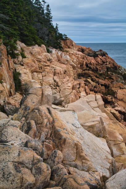 Rugged Rocky Coast, Maine stock photo