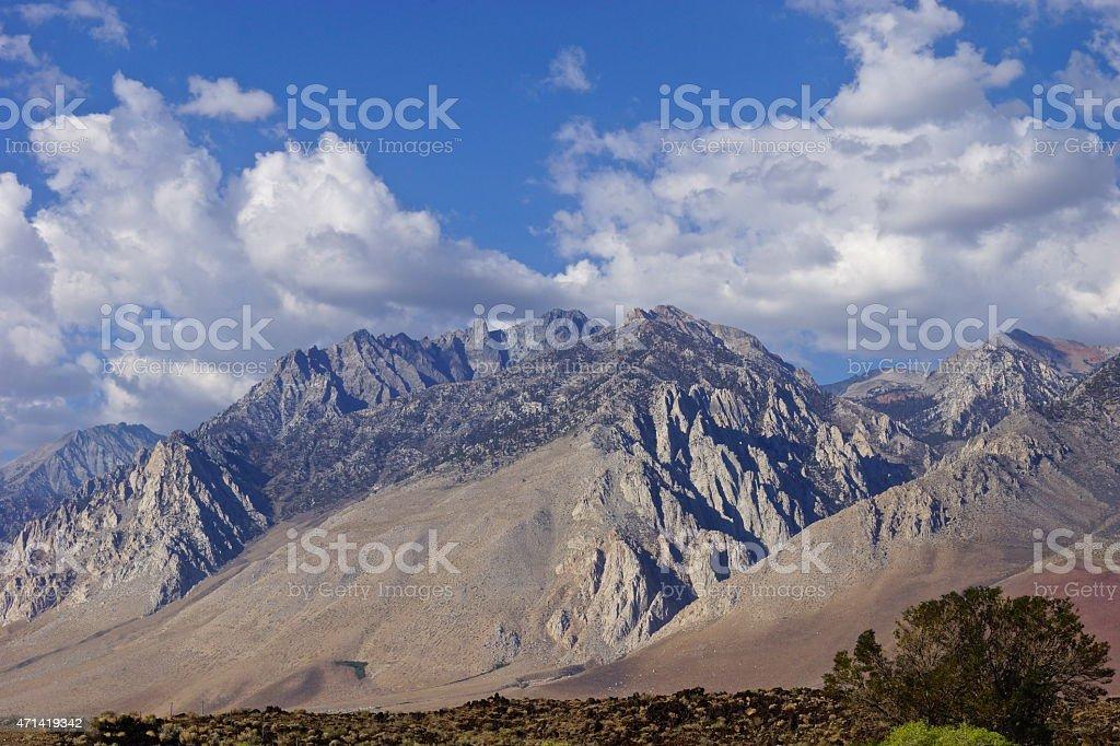 Rugged Sierra Range stock photo