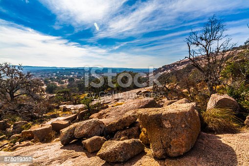 istock Rugged Western Landscape of Enchanted Rock, Texas. 878019352