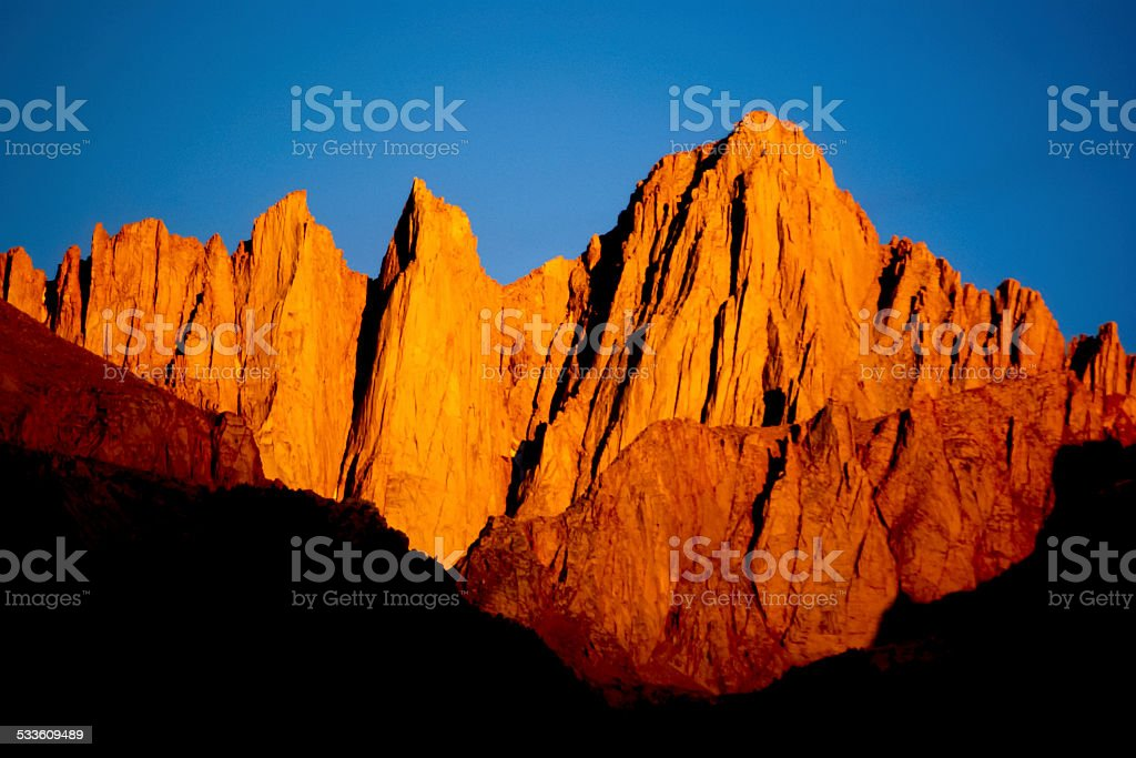 ruggged mountain wilderness landscape stock photo