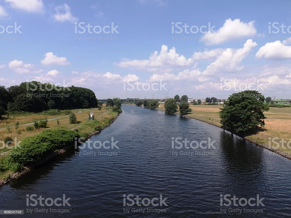 Ruhr bei Duisburg stock photo