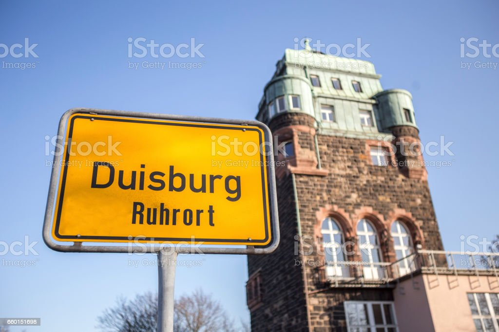 ruhrort sign duisburg germany stock photo