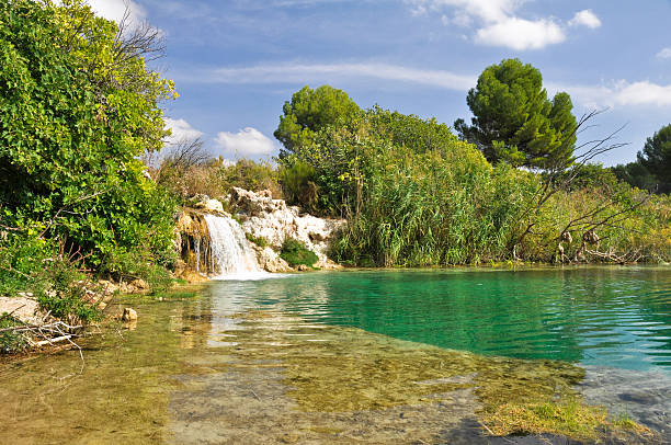 Ruidera Natural Park, Castilla La Mancha (Spain) stock photo