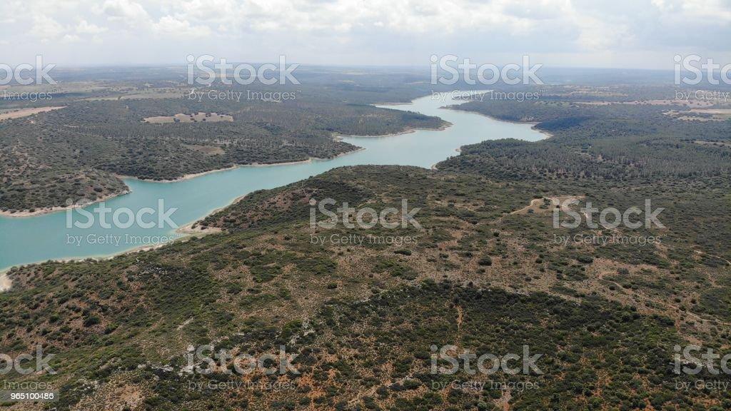Ruidera, pantano, naturaleza, Peñarrolla zbiór zdjęć royalty-free