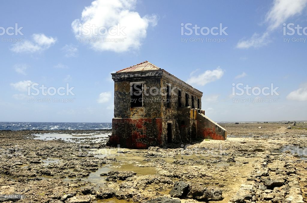 Ruin Bonaire stock photo