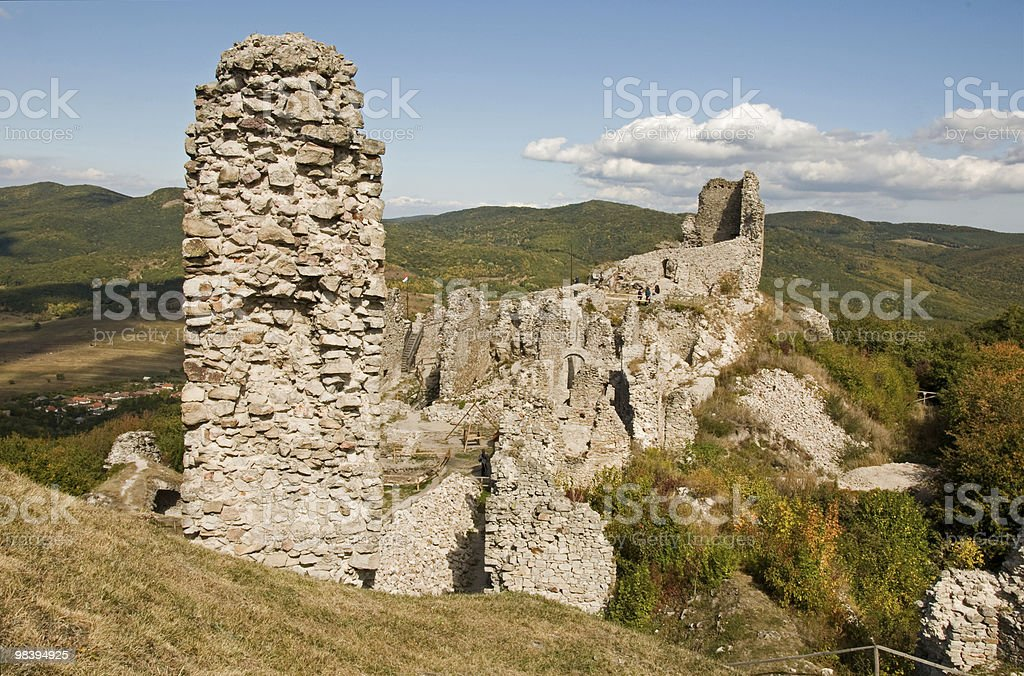 Ruin castle in Hungary royalty-free stock photo